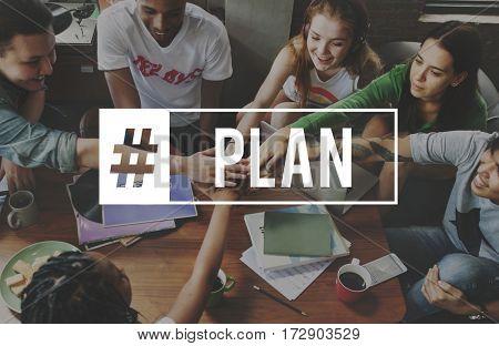 Planning Plan Partnership Hashtag Word
