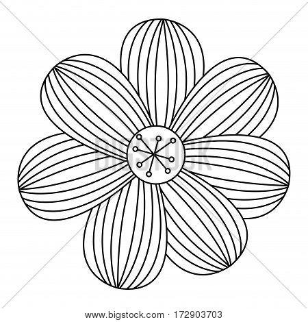 silhouette flower icon stock, vector illustration design