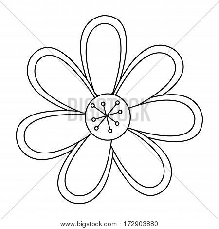 silhouette flower icon stock, vector illustration design