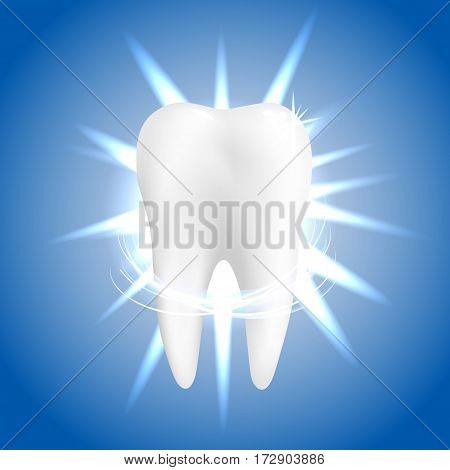 Dental care Tooth Icon vector concept. Whitening of human tooth.Vector illustration
