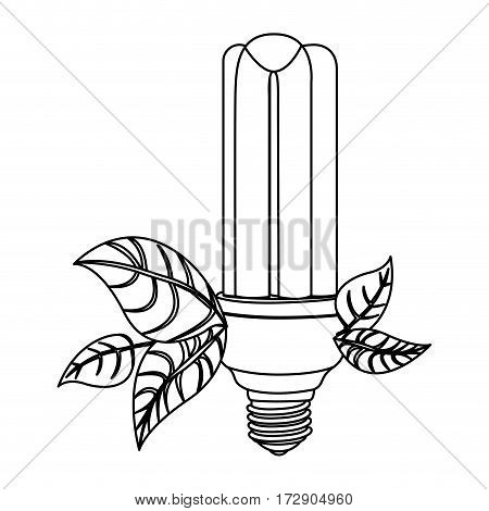 energy-saving light bulbs with leaves icon, vector illustration design