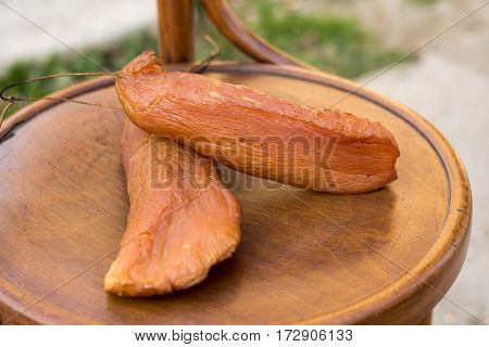Smoked Turkey Meat On The Table