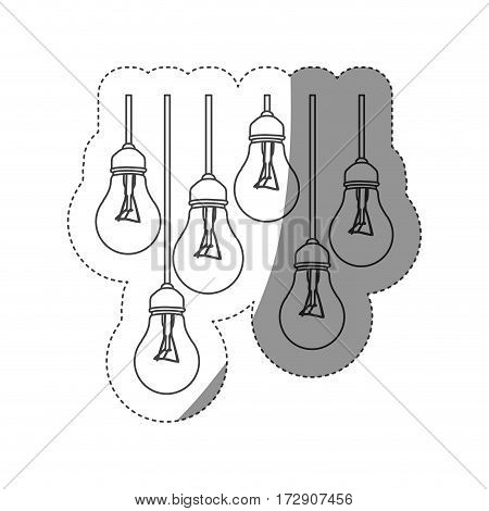 normal bulbs hanging icon, vector illustration design image