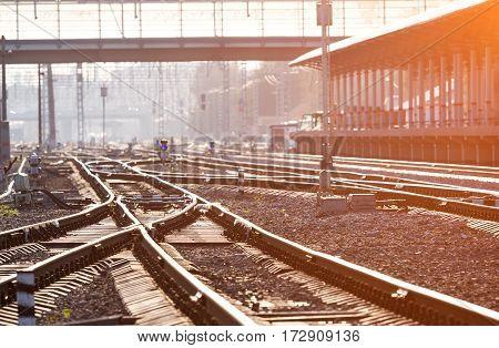 Railway Junction From Below