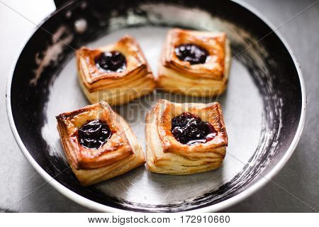 Viennese Pastries In A Cast-iron Frying Pan