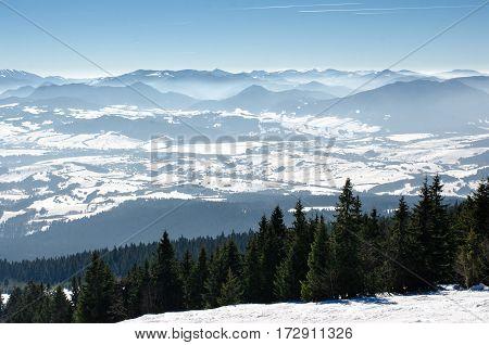 Skiing Park Kubinska Hola, Travel Destination For Winter Vacations.
