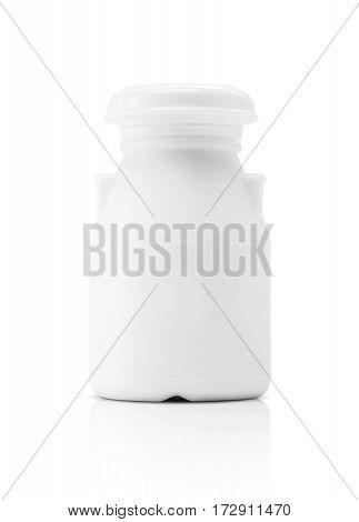 blank packaging milk beverage plastic bottle isolated on white background