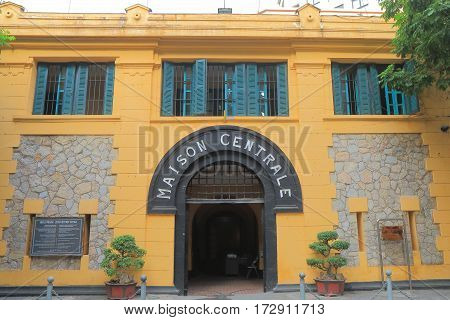 Hoa Lo Prison Hanoi Vietnam. Hoa Lo Prison was a prison used by the French colonists in Vietnam for political prisoners.