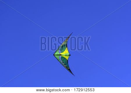 kite soars in the blue sky, air, flying, Sunny, day