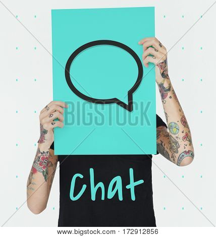 Speech Bubble Contacts Communication Connection