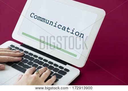 Communication connection conversation word concept