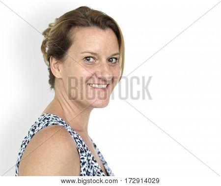 Caucasian Woman Casual Smiling