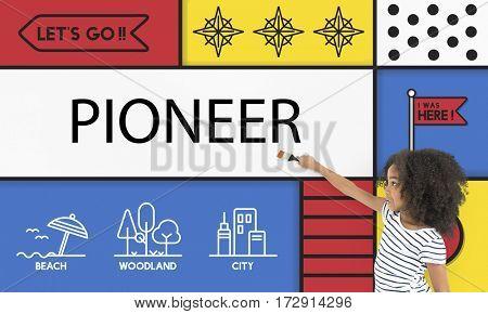Pioneer Travel Vacation Destination Icon