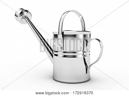 3D watering can on white background render, Water, 3d, Realistic, Watering, Can, Object, Illustration, Model, Plant, Flower, Graphics