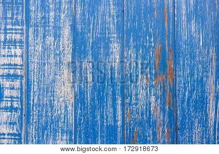 Old Blue Wooden Background. Texture Background For Design.