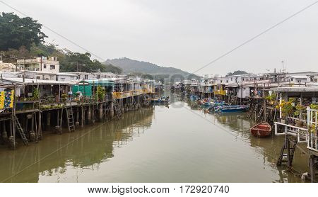 View Of Tai O Lantau Island Hong Kong