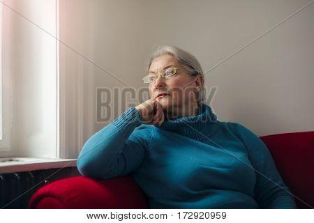Lady thinking