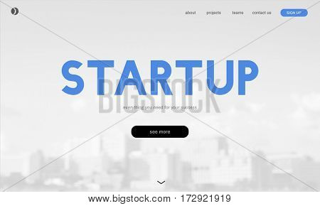 Start up homepage website business connection