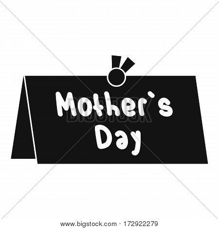 Mother Day postcard icon. Simple illustration of Mother Day postcard vector icon for web