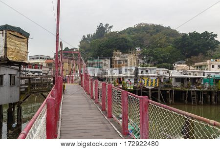 Bridge In Tai O Lantau Island Hong Kong