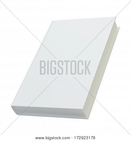 Blank book cover template for mockup. 3d rendering, isolated on white background