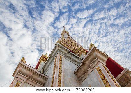landmarks temple of Phuket Province southern of Thailand