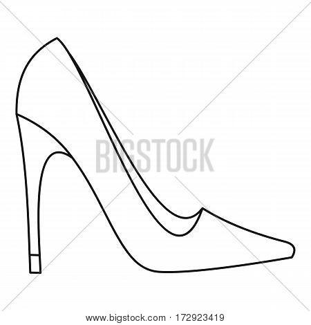 Elegant women high heel shoe icon. Outline illustration of elegant women high heel shoe vector icon for web