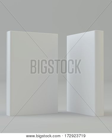 Blank mockcup book cover standing. 3d rendering