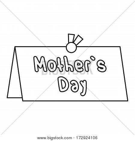 Mother Day card icon. Outline illustration of Mother Day card vector icon for web