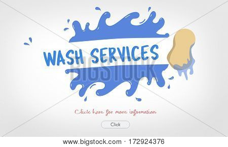 Housekeeping Wash Service Help Concept
