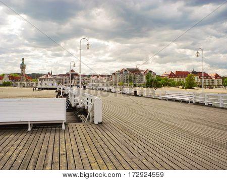 Longest wooden pier in Europe Sopot Poland.