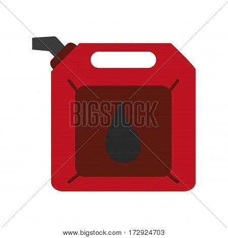 oil gallon icon over white background. colorful design. vector illustration