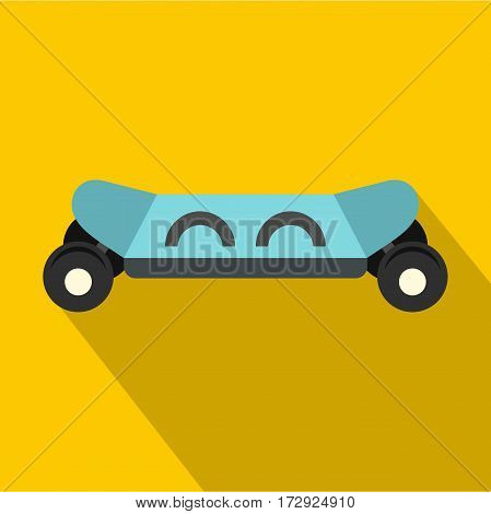 Skateboard electric smart icon. Flat illustration of skateboard electric smart vector icon for web isolated on yellow background