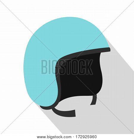 Blue safety helmet icon. Flat illustration of blue safety helmet vector icon for web isolated on white background