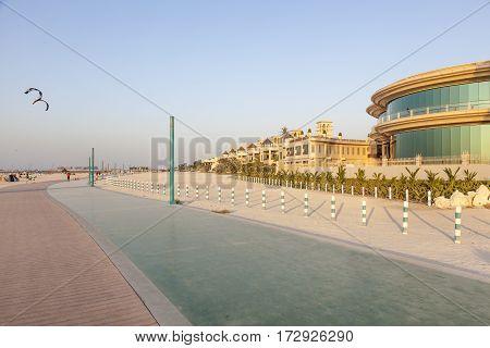 Walk and running line at the Umm Suqeim public beach in Dubai. United Arab Emirates Middle East