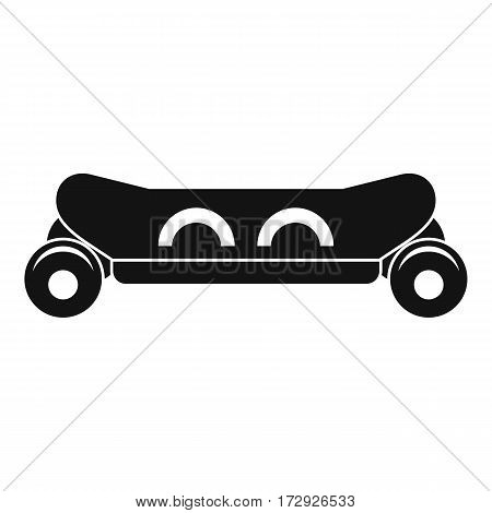 Skateboard deck icon. Simple illustration of skateboard deck vector icon for web