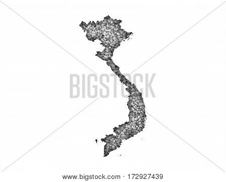Map Of Vietnam On Poppy Seeds