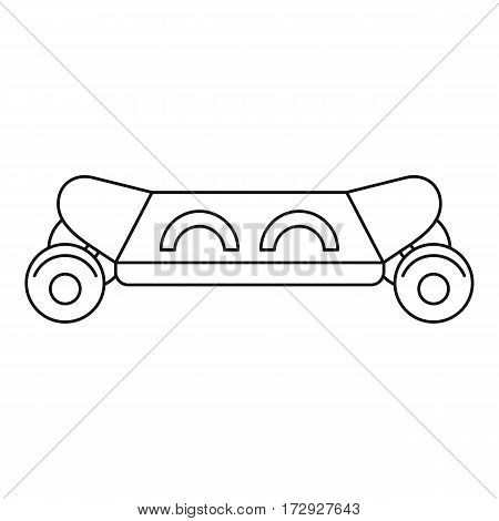Skateboard icon. Outline illustration of skateboard vector icon for web