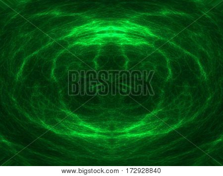 Abstract astral green graphic digital empty background