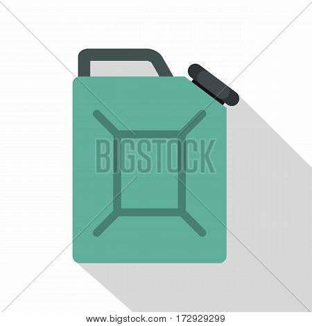 Blue fuel jerrycan icon. Flat illustration of blue fuel jerrycan vector icon for web isolated on white background