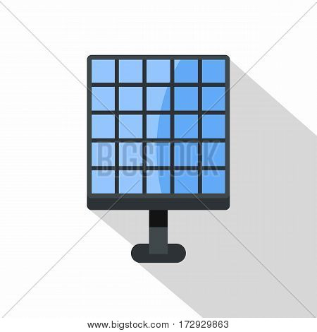 Electric solar panel, new technology of energy production icon. Flat illustration of electric solar panel vector icon for web isolated on white background