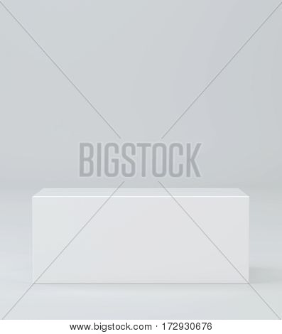 Pedestal. Simple template for an advertisement or web design. 3d rendering