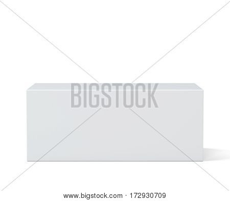 Pedestal. Simple template for an advertisement or web design. 3d rendering isolated on white background