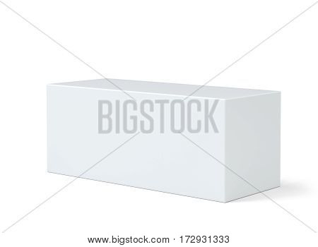 Pedestal for display. Platform for design. Realistic 3D rendering empty podium on white background