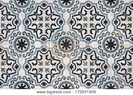 Ornate ceramic floor tiles from a property in Lerapetra Crete.