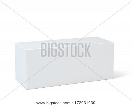 Empty room with pedestal for presentation. 3d rendering, white background