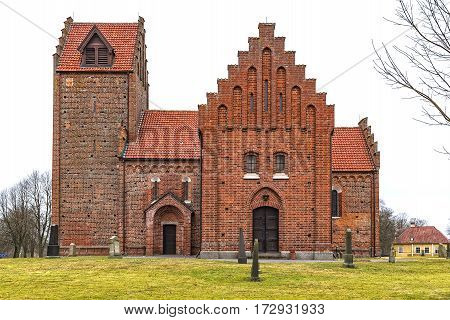 Gumlosa church in the Skane region of Sweden is the oldest red brick building in the entire country.