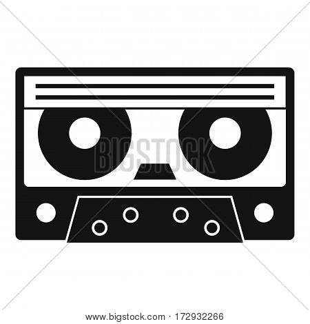 Audio cassette tape icon. Simple illustration of audio cassette tape vector icon for web
