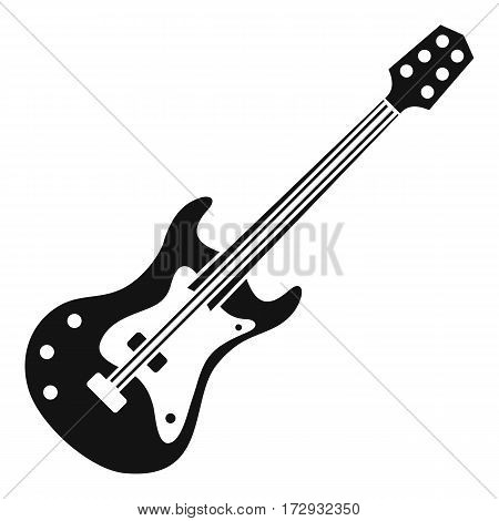 Classical electric guitar icon. Simple illustration of classical electric guitar vector icon for web