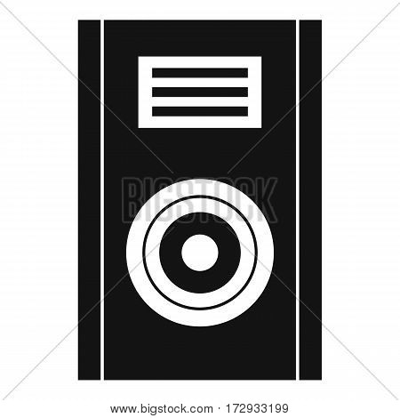 Music speaker icon. Simple illustration of music speaker vector icon for web
